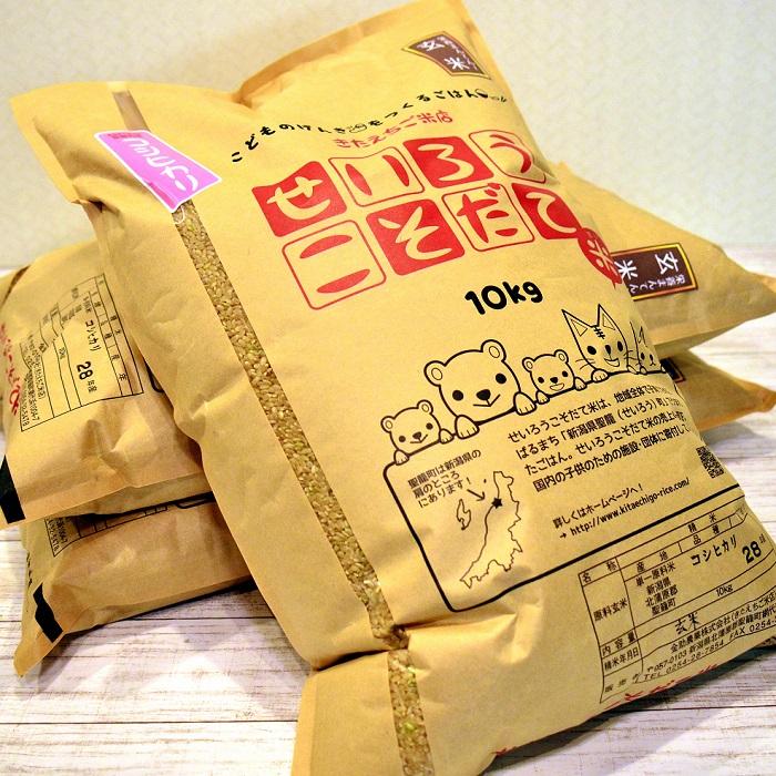 【ふるさと納税】新潟県聖籠産玄米コシヒカリ 30kg≪令和元年≫
