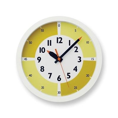 【ふるさと納税】fun pun clock with color! / イエロー (YD15-01 YE) Lemnos レムノス 時計 【インテリア】 お届け:※申込状況によりお届け迄1~2ヶ月程度かかる場合があります。