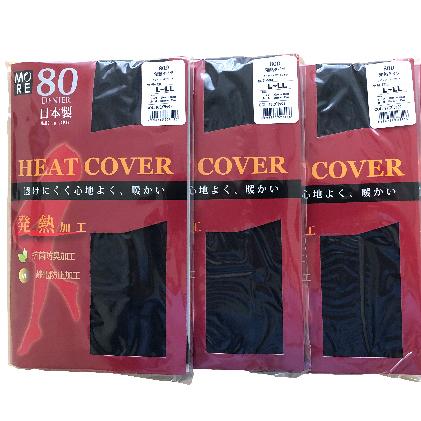 富山県魚津市 ふるさと納税 有名な 日本製 発熱タイツ4P 予約 80デニール ブラック 黒 日用品 L-LL 雑貨