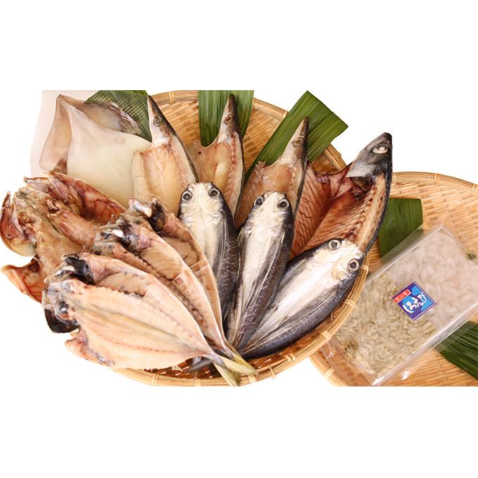 お求めやすく価格改定 富山県氷見市 ふるさと納税 氷見 堀与 地魚一夜干6種と白えび刺身 干物 鯖 アジ 魚貝類 サバ 交換無料