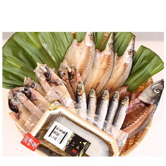 富山県氷見市 ふるさと納税 氷見 堀与 一夜干5種といか昆布じめのセット ギフト 鯖 サバ 気質アップ 魚貝類 干物 アジ