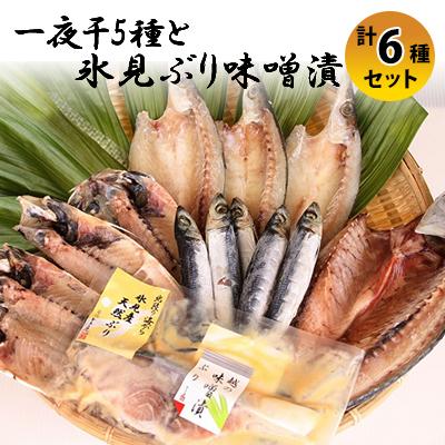 富山県氷見市 ふるさと納税 氷見 堀与 驚きの値段で 一夜干5種と氷見ぶり味噌漬 アジ 魚貝類 鯖 干物 2020モデル
