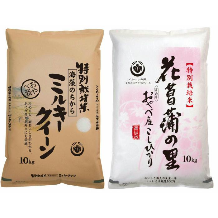 【ふるさと納税】特別栽培米4kg(ミルキークイーン2kg・コシヒカリ2kg)