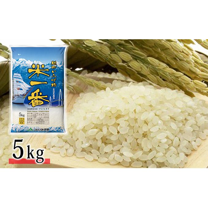 【ふるさと納税】越中いみず野米一番 5kg(コシヒカリ) 【お米】
