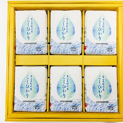 【ふるさと納税】射水のこしひかり3合 6個入り 【お米・こしひかり・コシヒカリ・白米・おこめ】