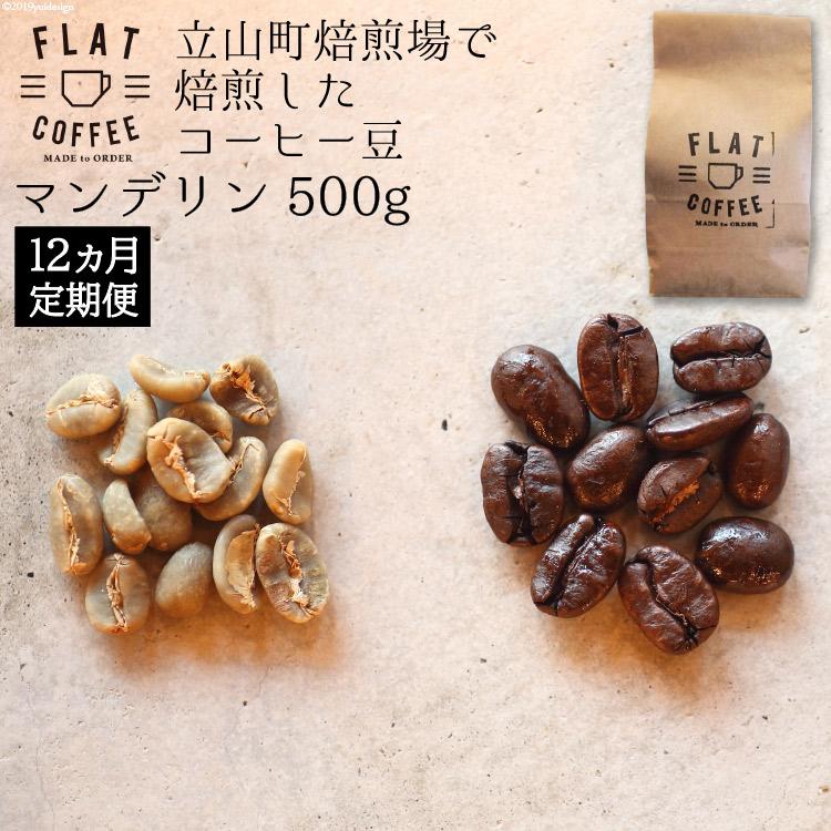 【ふるさと納税】コーヒー豆500g(マンデリン) 12ヵ月定期便【飲料類・コーヒー・コーヒー豆】