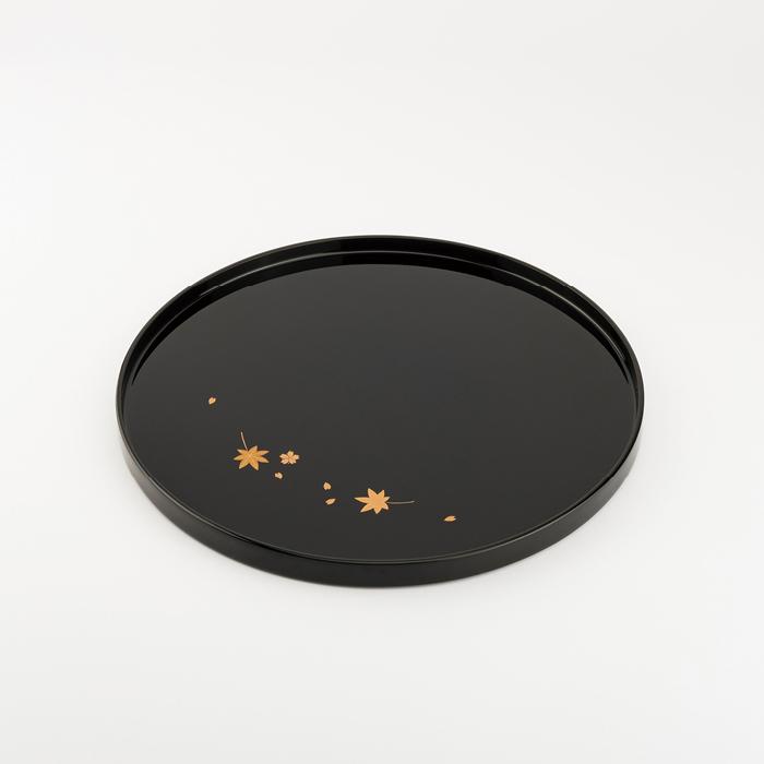 【ふるさと納税】【金沢漆器】雲錦蒔絵 丸盆