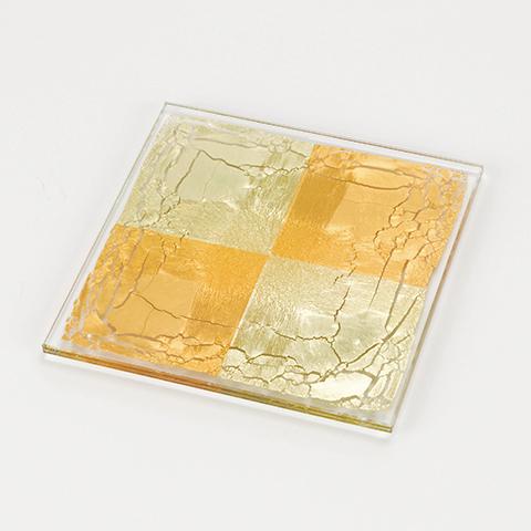 【ふるさと納税】箔ガラス「四角」