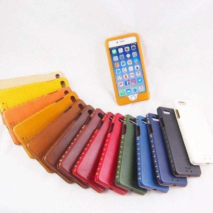 【ふるさと納税】iPhone ケース 本革 ハンドメイド 刻印付 6/6S【Leather handmade iphone case】
