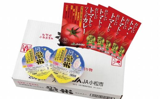 【ふるさと納税】010124. 蛍米パックご飯とマイルドトマトカレーのセット
