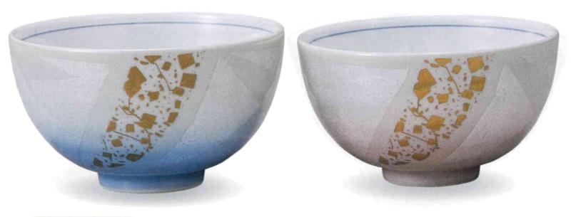 【ふるさと納税】035003. 組飯碗・銀彩金ちらし
