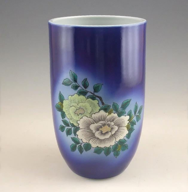 【ふるさと納税】700002. 九谷焼作家 三代 浅蔵五十吉 作品「花瓶 色絵 牡丹」