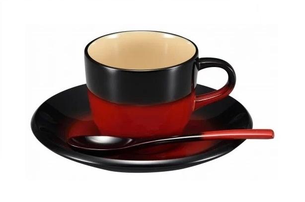 【ふるさと納税】輪島塗 コーヒーカップ(曙、黒)