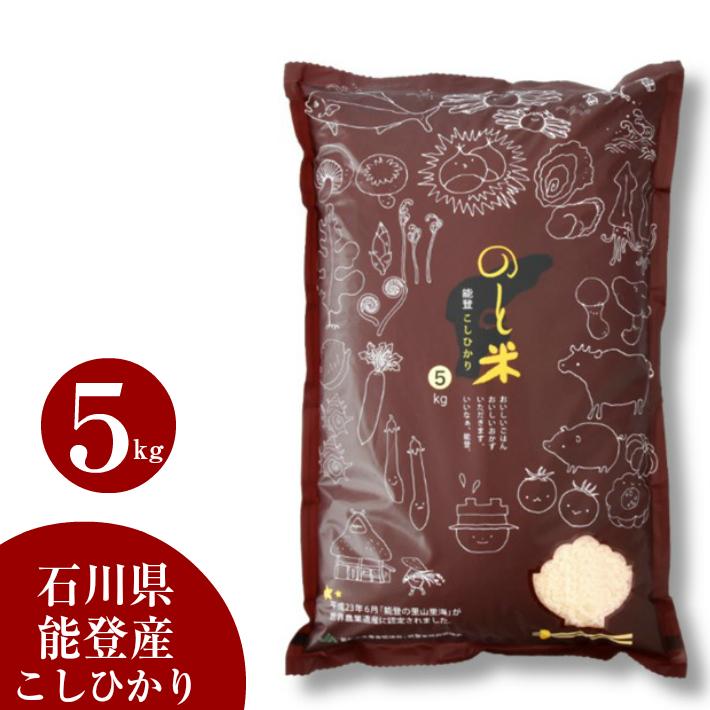 【ふるさと納税】[A003] 能登こしひかり のと米 精米5kg