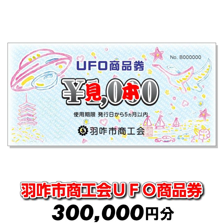 【ふるさと納税】[G044] 羽咋市商工会UFO商品券(300,000円分)【現地利用限定】
