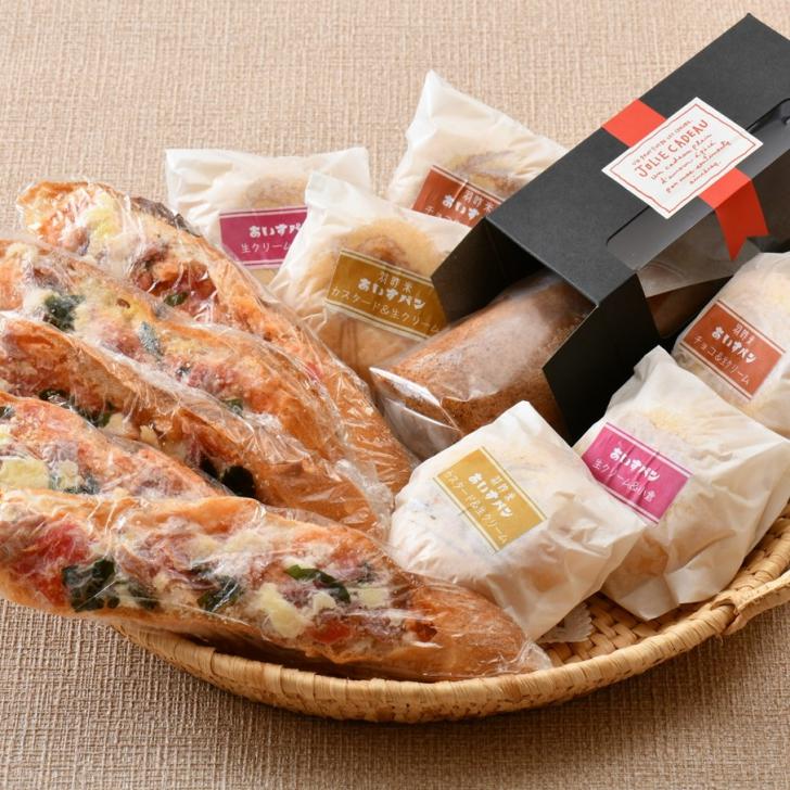 【ふるさと納税】[K028] のとししピザとロールケーキ&あいすパンのデザートセット