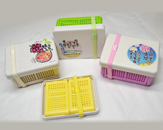 【ふるさと納税】No.092 ランチBOX(折りたたみアミ付) / 弁当箱 ケース ランチボックス 石川県