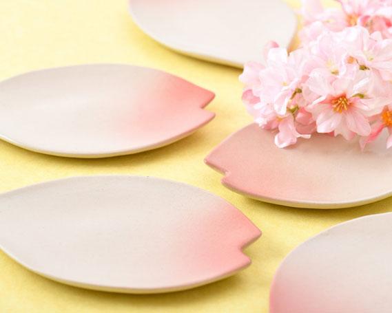 【ふるさと納税】No.093 桜小皿 / お皿 さくら 手作り 陶器 石川県