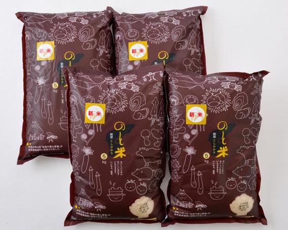 【ふるさと納税】No.043 のと米 精米20kg / お米 コシヒカリ 石川県
