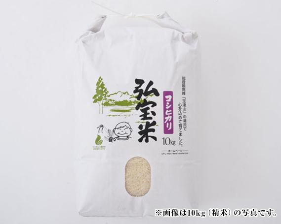 【ふるさと納税】No.095 宝達山の清流で育てたコシヒカリ「弘宝米」 精米5kg
