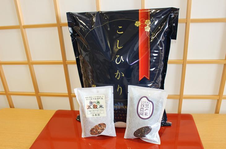 【ふるさと納税】安全・安心な美味しい 中能登産 能登米コシヒカリ&古代米セット