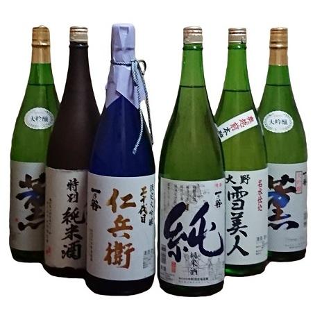 【ふるさと納税】日本酒 清酒『一乃谷』 限定はじめ定番5種6本飲み比べセット 1.8L×6本 【お酒・日本酒・大吟醸酒】