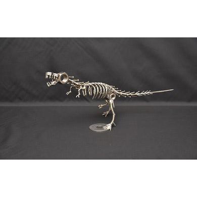 【ふるさと納税】オールステンレスネジ恐竜 ティラノサウルス(全長390mm)★