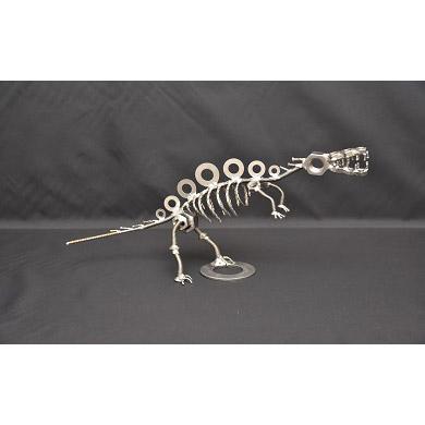 【ふるさと納税】オールステンレス恐竜 スピノサウルス(全長330mm)★