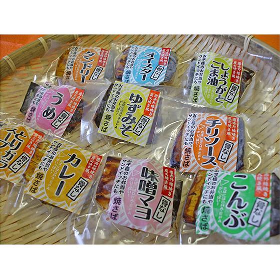 【ふるさと納税】焼き鯖(骨とり)バラエティセット(真空パック10点セット) 【魚貝類・加工食品・惣菜】