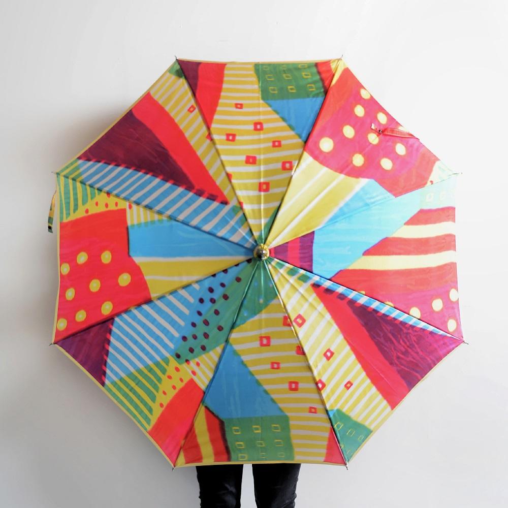 【ふるさと納税】高級晴雨兼用傘「マルサンカクシカク」(赤)