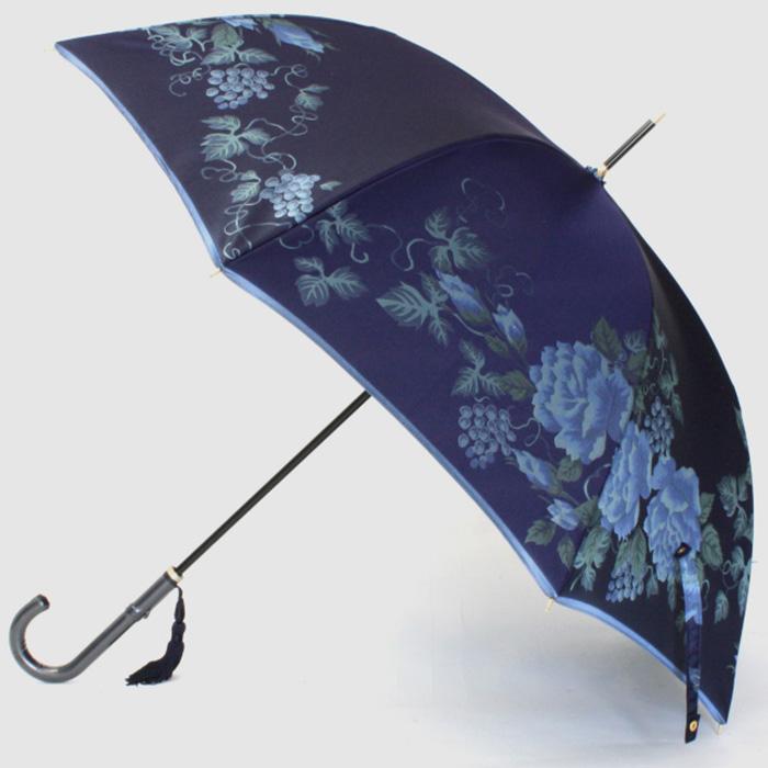 【ふるさと納税】【槙田商店】晴雨兼用長傘 絵おり バラとぶどう コン