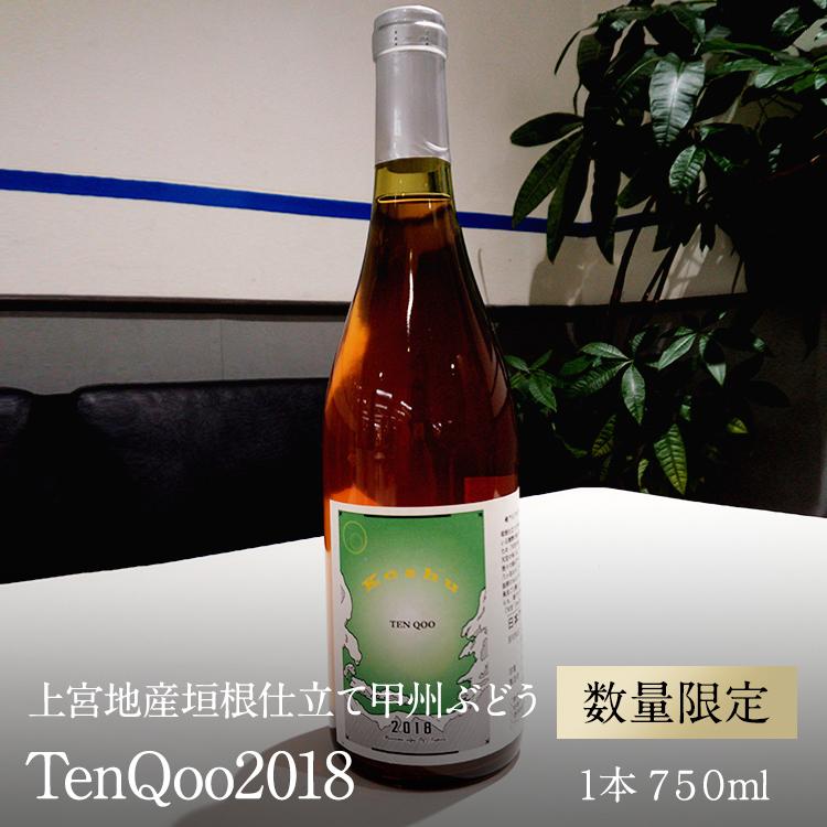 【ふるさと納税】ワイン 南アルプス天空舎が贈る上宮地産垣根仕立て甲州ぶどうのオレンジワイン TenQoo2018 1本750ml