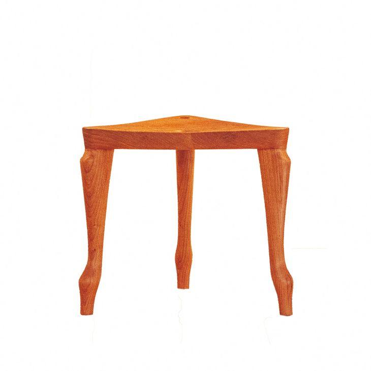 【ふるさと納税】椅子 チェア ほくとのクラフト三角スツール 飾り台 踏み台 手作り 無垢材 軽い 送料無料