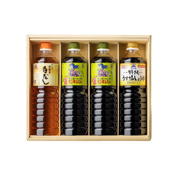 【ふるさと納税】テンヨ 山梨ご当地調味料の詰合せ(TS-30B) 【出汁・だし・醤油・しょうゆ・薄口】