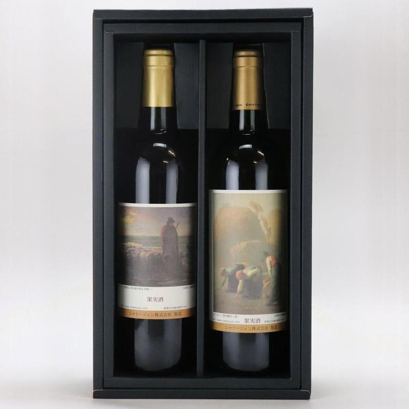 【ふるさと納税】「特別企画ワイン」県立美術館所蔵ミレーアートボトル【2本セットCタイプ】