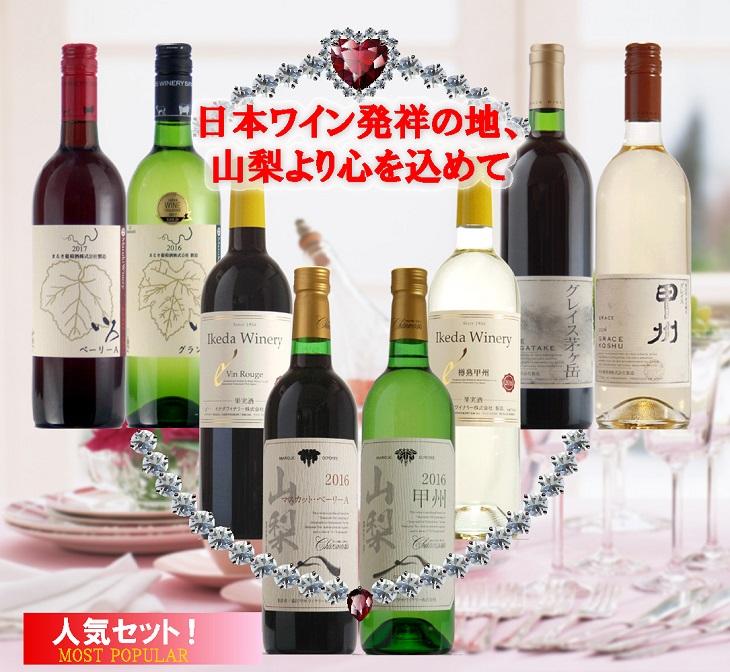 【ふるさと納税】地理的表示『山梨』ワイン 8本セット 8本セット R506☆日本ワイン発祥の地、山梨より厳選☆, green clover project:009ee629 --- vidaperpetua.com.br