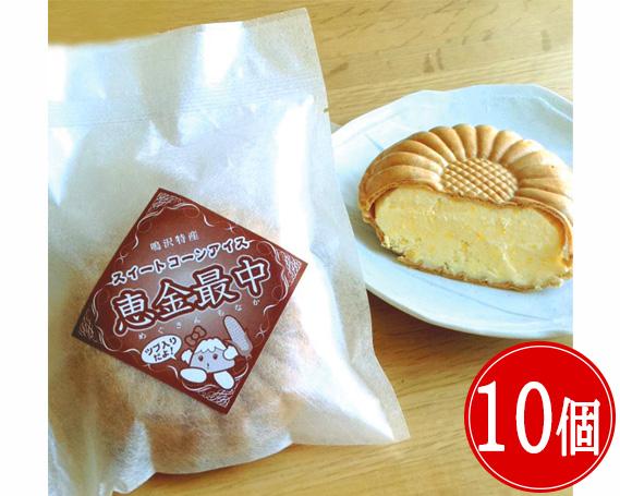 【ふるさと納税】No.040 【各10個】アイスクリームセット(もろこし最中・ルバーブアイス)