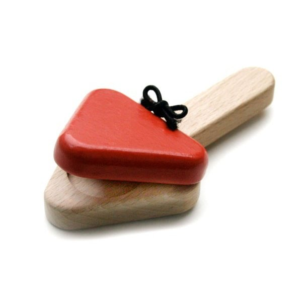 【ふるさと納税】008-028赤ちゃんに優しい木のおもちゃ「カスタネット」