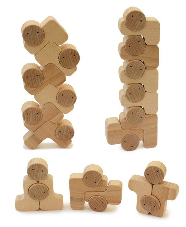 【ふるさと納税】016-021積み木遊びの決定版 木のおもちゃ「ベビーブロック」