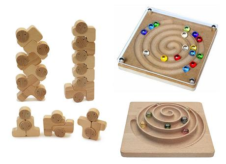 【ふるさと納税】040-003指とバランス感覚を養う 木のおもちゃ「ベビーブロック+立体うずまき+アンドロメダ銀河」