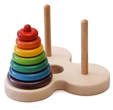 【ふるさと納税】016-020数学パズル「ハノイの塔虹のバージョン」