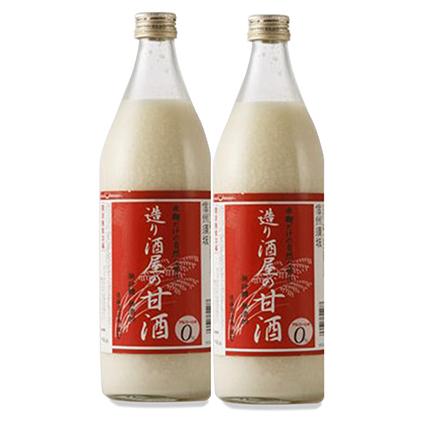 【ふるさと納税】造り酒屋の甘酒(無添加)900ml2本セット 【飲料・あまざけ】