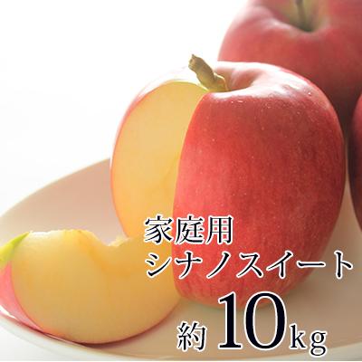 【ふるさと納税】信州小諸産御家庭用シナノスイート約10kg 【果物類・林檎・りんご・リンゴ】 お届け:2020年10月中旬~11月上旬