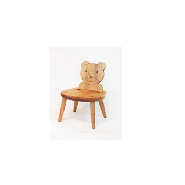 【ふるさと納税】国産クルミ材を使った子供椅子