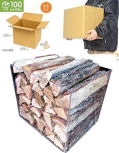【ふるさと納税】広葉樹の薪(約35センチ)宅配100サイズ段ボール箱入り