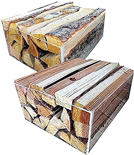【ふるさと納税】よく燃える針葉樹の薪と火持ちの良い広葉樹の薪