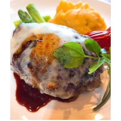【ふるさと納税】焼肉屋さんのジューシーハンバーグ5つ 【お肉・ハンバーグ】