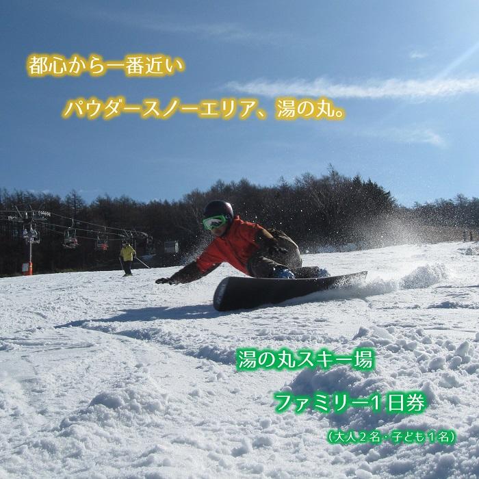 【ふるさと納税】湯の丸スキー場 スキーリフトファミリー1日券(大人2枚+小人1枚)