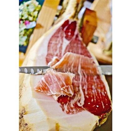 【ふるさと納税】ジャンボン・ド・ヒメキ【miyabi】20M (小谷野豚うで原木生ハム20ヶ月熟成) 【お肉・ハム】