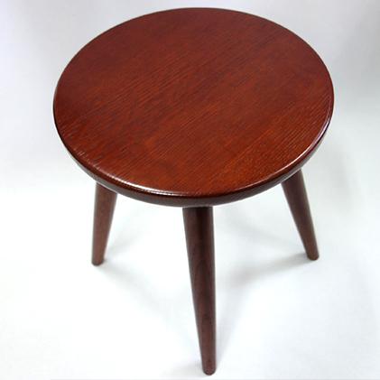 【ふるさと納税】木のスツール(ナラ材/高さ約42cm) 【工芸品】